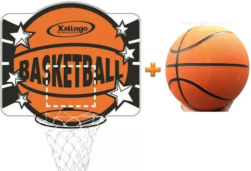 kit basquete cesta + bola oficial basketball