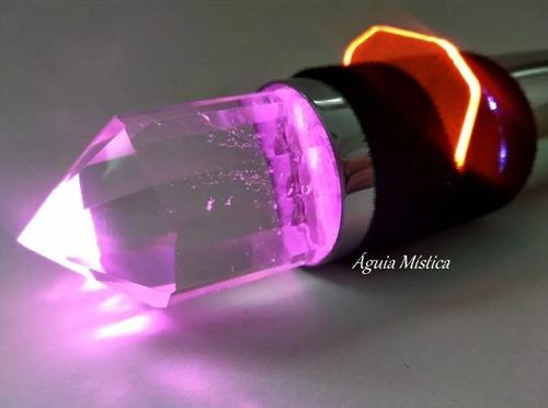 kit bastão+ lanterna cromoterapia cromático cristal vogel
