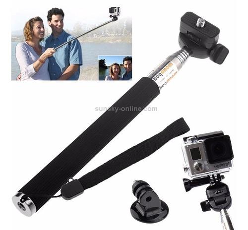 kit bastão monopod pau de selfie alça tripod mount go pro