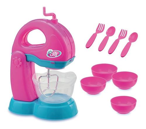 kit batedeira + kit liquidificador infantis le chef usual b
