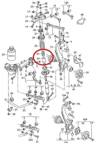 kit batente coifa amortecedor dianteiro audi 80 2.6 v6 92-95