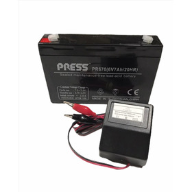 Kit Bateria 6v 7ah +cargador 6v 1ah Autos Jeep A Bateria