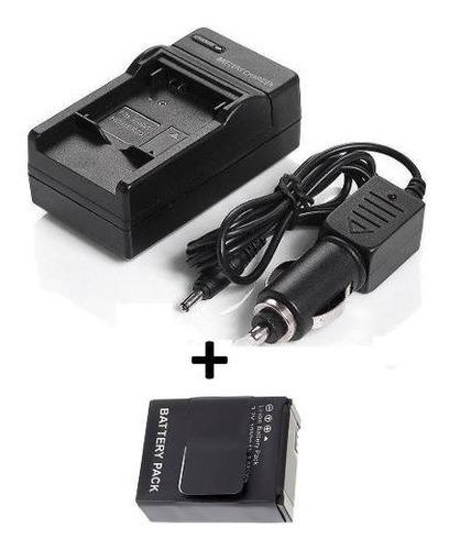 kit bateria ahdbt-301 ahdbt-302 + carregador go pro hero 3