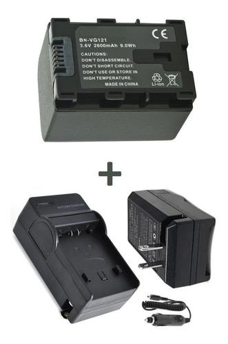 kit bateria + carregador jvc compatível bn-vg108u bn-vg114e