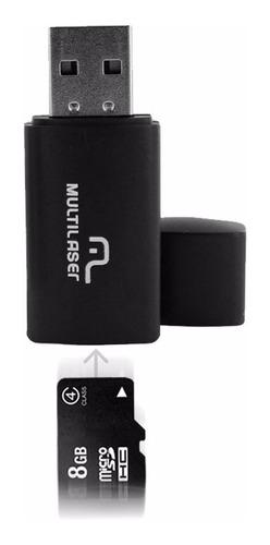 kit bateria emergência cartão de memória 8gb leitor pendrive