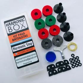 Kit Bateria Felpas Llave Arandela Redoblante Harmonic Stop