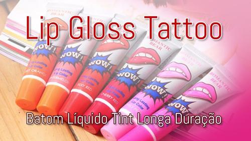 kit  batom adesivo tatuagem - lip color tattoo  c/3un