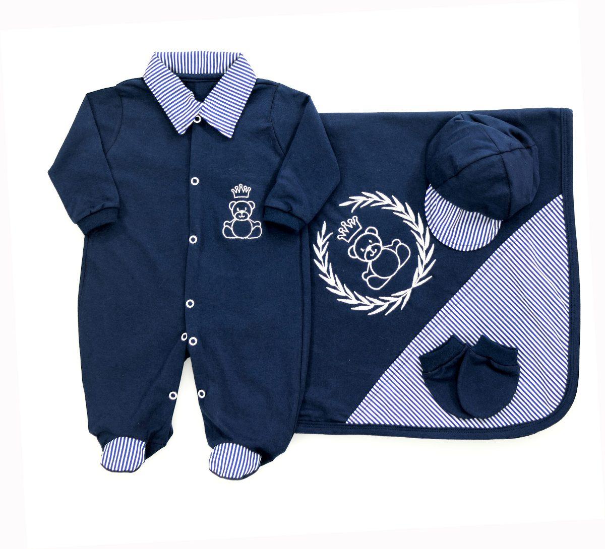 kit bebê saída de maternidade enxoval bebê príncipe ursinho. Carregando  zoom. 6a9a41fefc5