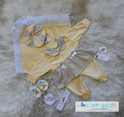 kit bebê saída de maternidade menina enxoval p/ sua princesa