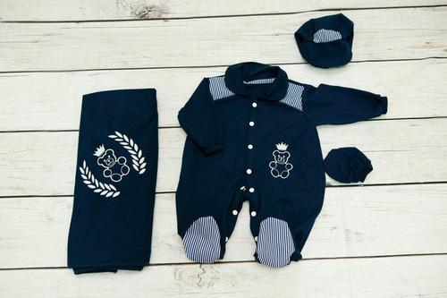 kit bebê saída de maternidade menino enxoval p/ seu príncipe