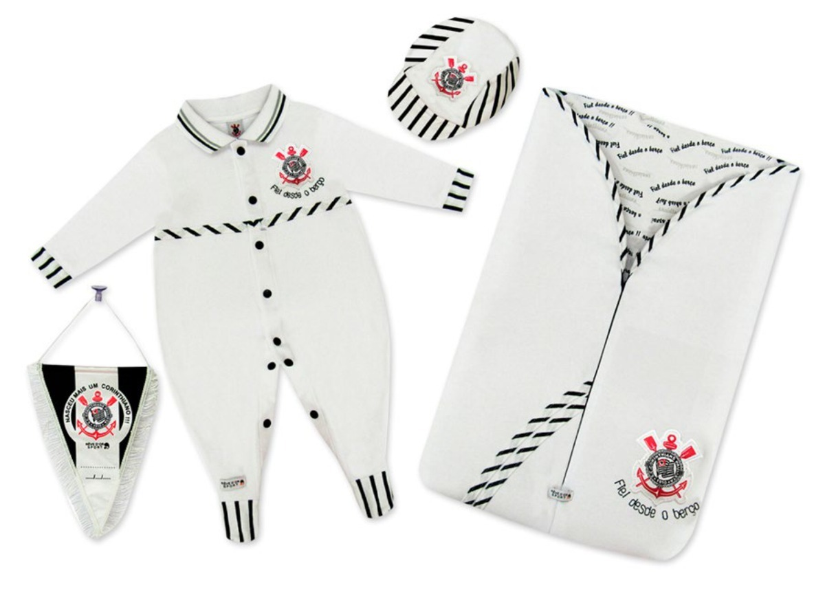 9fd4e32dd4 kit bebê suedine luxo menino - corinthians licenciado. Carregando zoom.