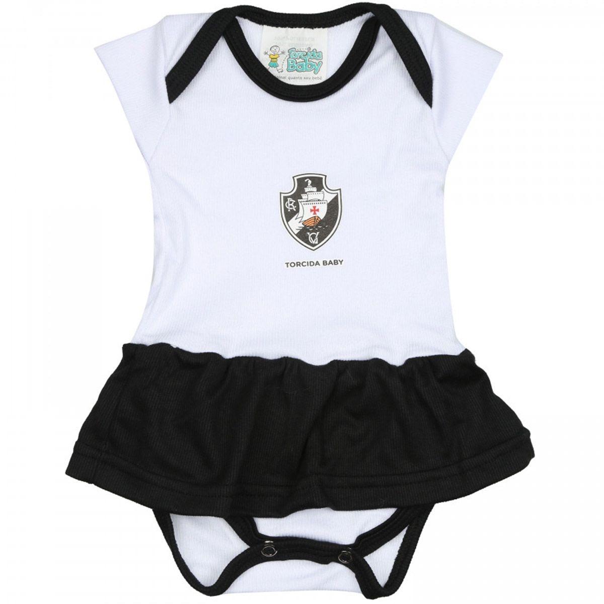 Kit Bebê Torcida Baby Vasco Menina Body + Faixa + Pantufa - R  89 d5ff379fb6ba5