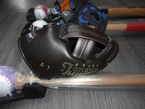 kit beisbol infantil manopla,bat y pelota palomares fpx