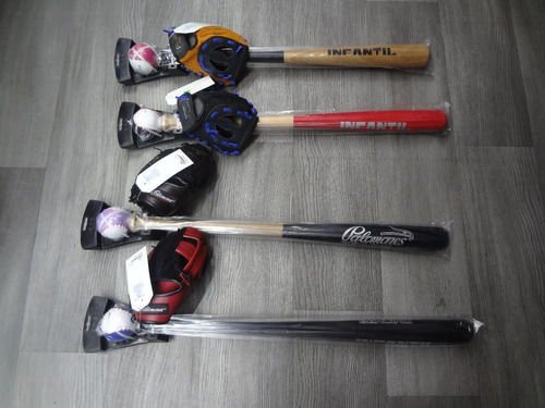 kit beisbol infantil manopla,bat y pelota  palomares genuino