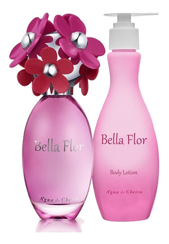 kit bella flor perfume 100ml + loção hidratante 250ml