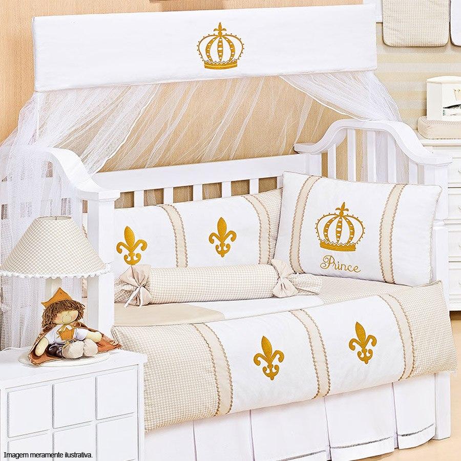 Kit Ber O Prince Americano 100 Algod O Pique Enxoval Beb R  ~ Quarto De Bebe Masculino Principe