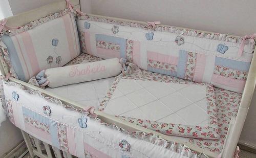 kit berço menina patchwork 201 - *frete grátis