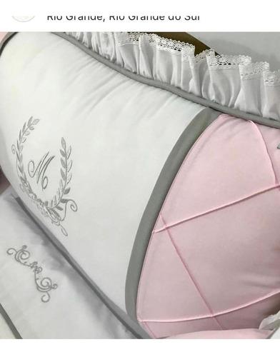 kit berço menina super luxo lançamento personalizado