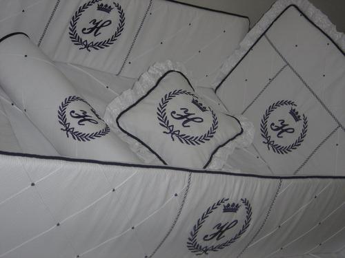 kit berço personalizado - bordado - frete gratis