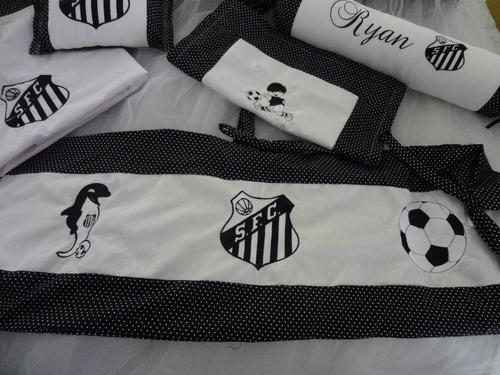 kit berço personalizados 9 pçs tema times de futebol