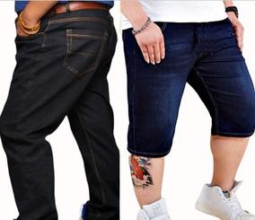 fdbac73ea Calça Jeans Rasgada Plus Size Masculina - Calçados, Roupas e Bolsas no  Mercado Livre Brasil