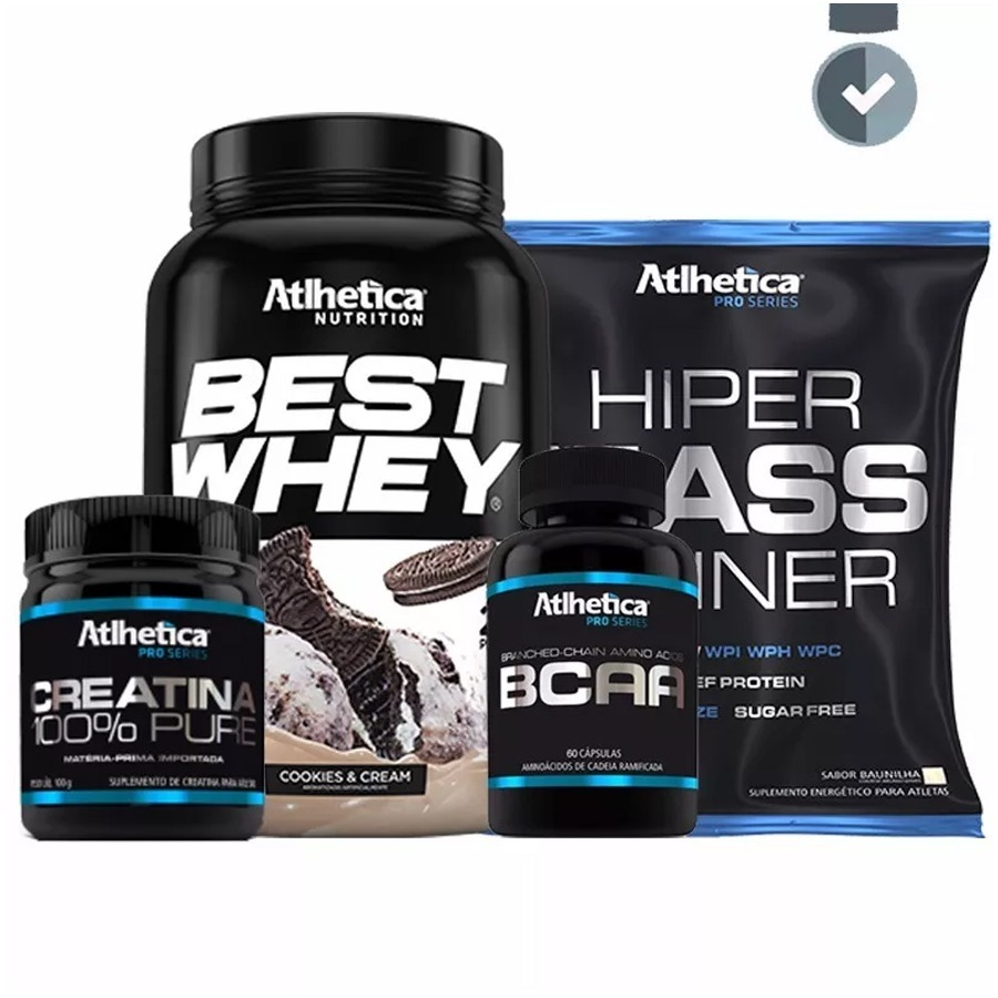 c3f913d16 kit best whey + bcaa pro + creatina + hipercalórico. Carregando zoom.