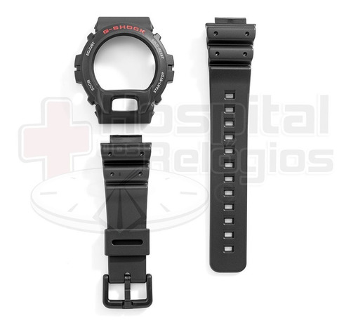 kit bezel + pulseira g-shock dw-6600 dw-6900 casio original