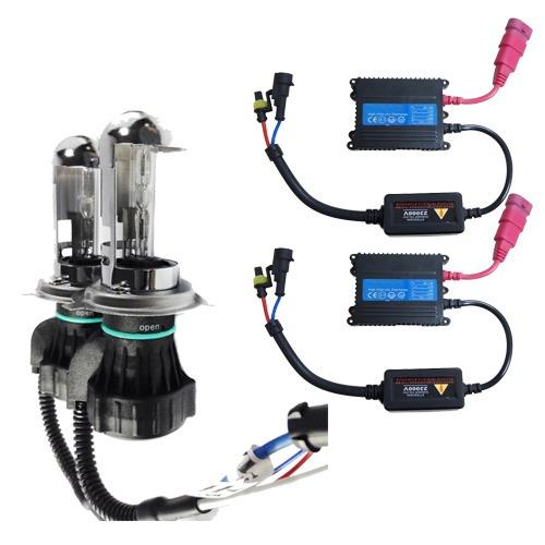 kit bi xenon hid reator h4-3 6000k 8000k 10000k