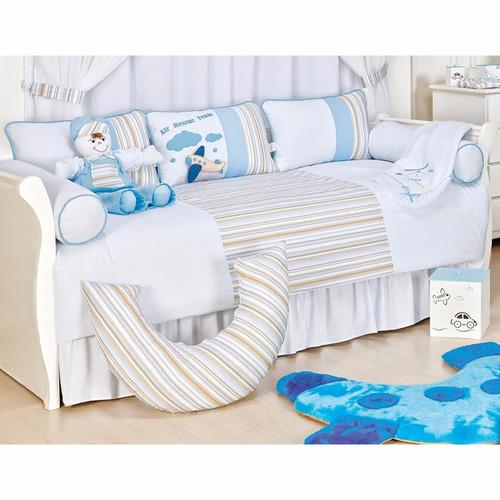kit bicama (cama da babá) 6 pçs 100% algodão avião