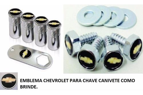 kit bico de pneu capa parafuso gm vectra corsa kadett+brinde