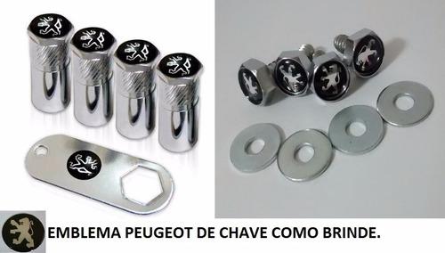 kit bico de pneu capa parafuso peugeot 206 207 207 + brinde
