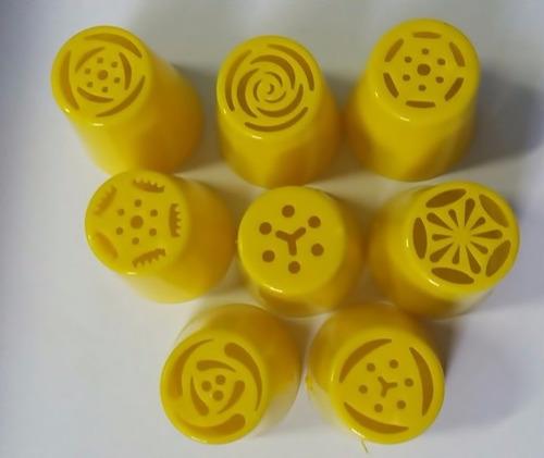 kit bicos russos 8 peças em plastico + adaptador + saco