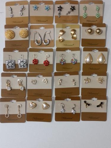 kit bijuterias atacado com 100 pares + 10 pares de brinde