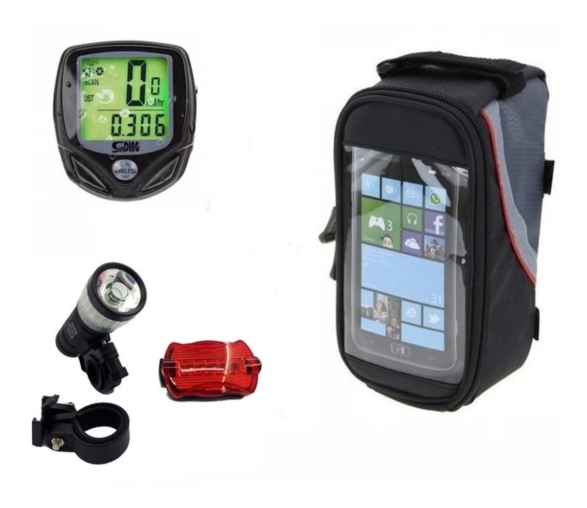 f286c6db8 Kit Bike Case Lanterna Zoom Pisca Velocimetro S/fio Luz Not. - R$ 90 ...