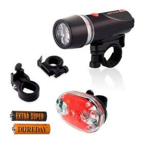 Kit Bike Farol + Lanterna Traseira Led Resistente A Água