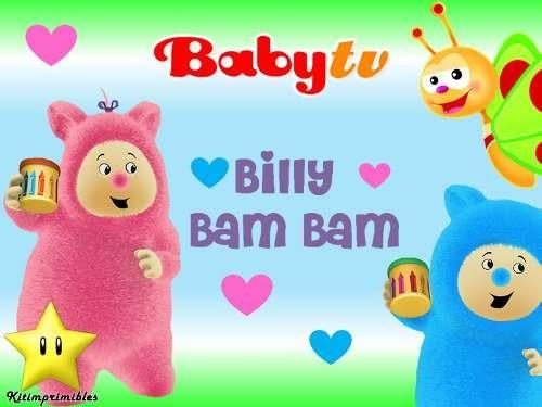 kit billy bam bam babytv diseñá tarjetas cajas cumples y mas