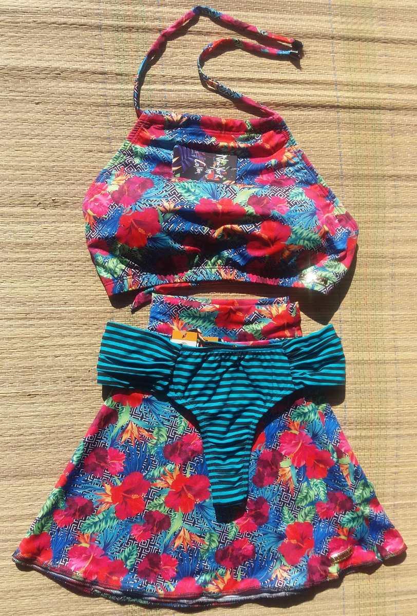 b5d0e64ee kit biquíni cropped + calcinha+saia saída de praia mãe filha. Carregando  zoom.