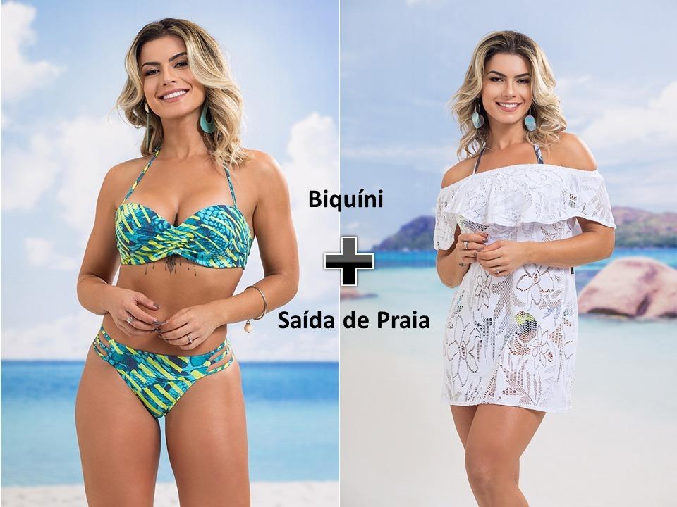a1438f761 Kit Biquíni + Saída De Praia - R$ 192,90 em Mercado Livre