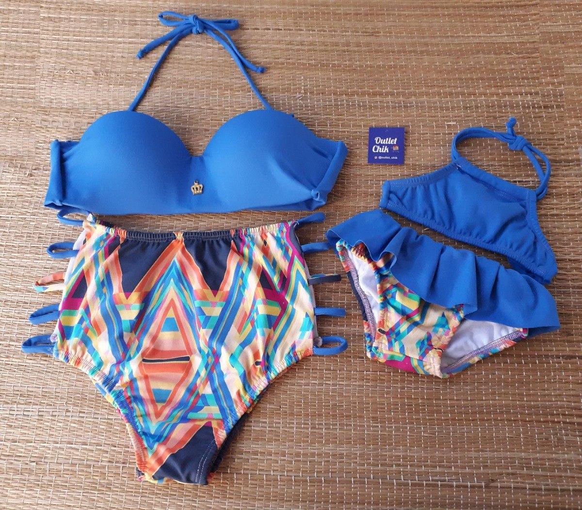 Kit Biquini Tal Mae E Tal Filha Hot Pants R 160 00 Em Mercado Livre