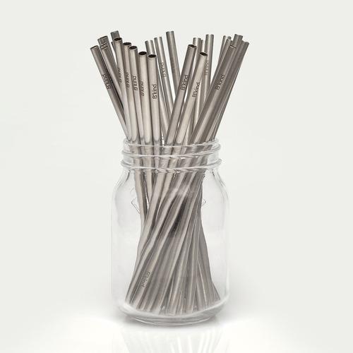 kit b'kind - 4x eco canudo de aço inox metal reutilizável
