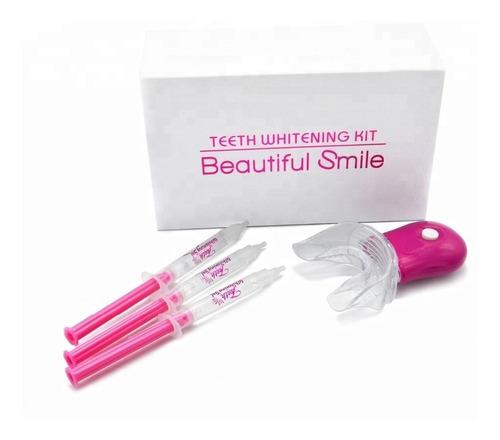 kit blanqueador dientes whitening gel jeringa dientes blanco