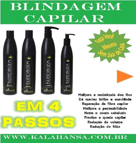 kit blindagem live aloe vera profissional babosa - promoção