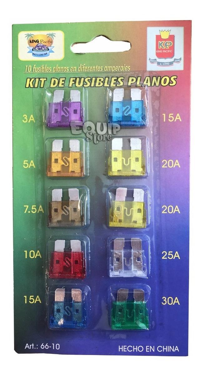 para Coche Moto van paquete de 11 10 Amp hoja fusibles Nuevo 10A estándar Fusibles