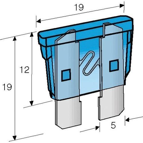 kit blister 10 fusibles planos surtidos  auto camion