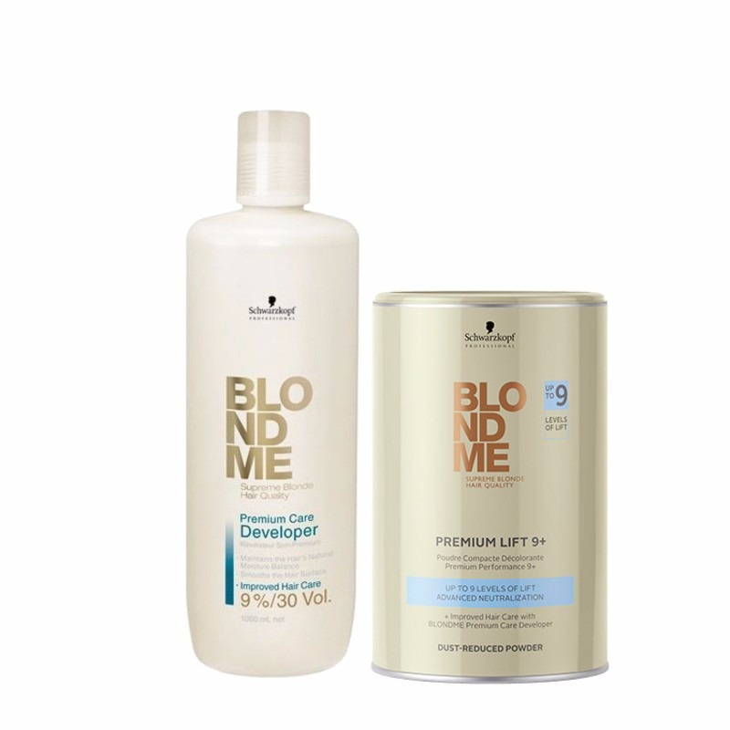 Kit Blond Me Premium Lift 9 Pó Desc Oxigenada 9 Tons R 29578