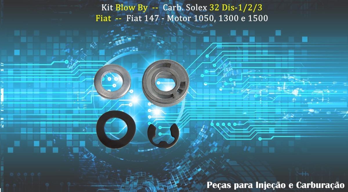 Kit Blow By Fiat 147 - Carburador Solex 32 Dis - 2 Pçs