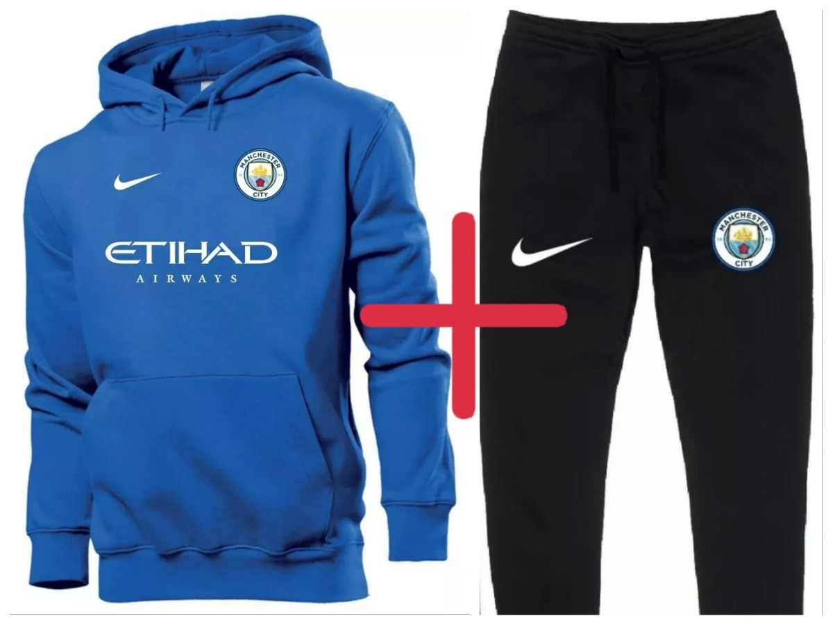 Kit   Blusa + Calça Moletom Manchester City Time Futebol - R  139 773f3905953c9