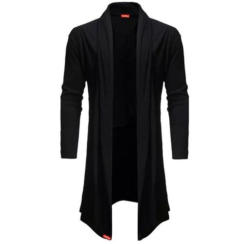 kit blusa cardigan masculino sobretudo b22 + cachecol