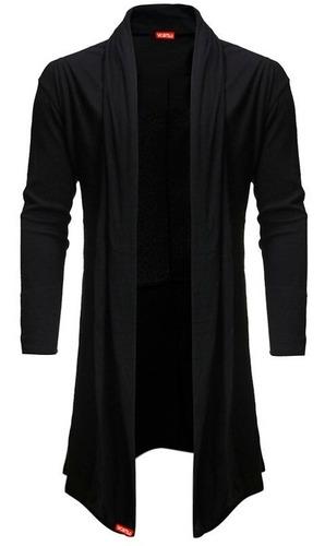 kit blusa de frio cardigan masculino b22 + touca beanie pret