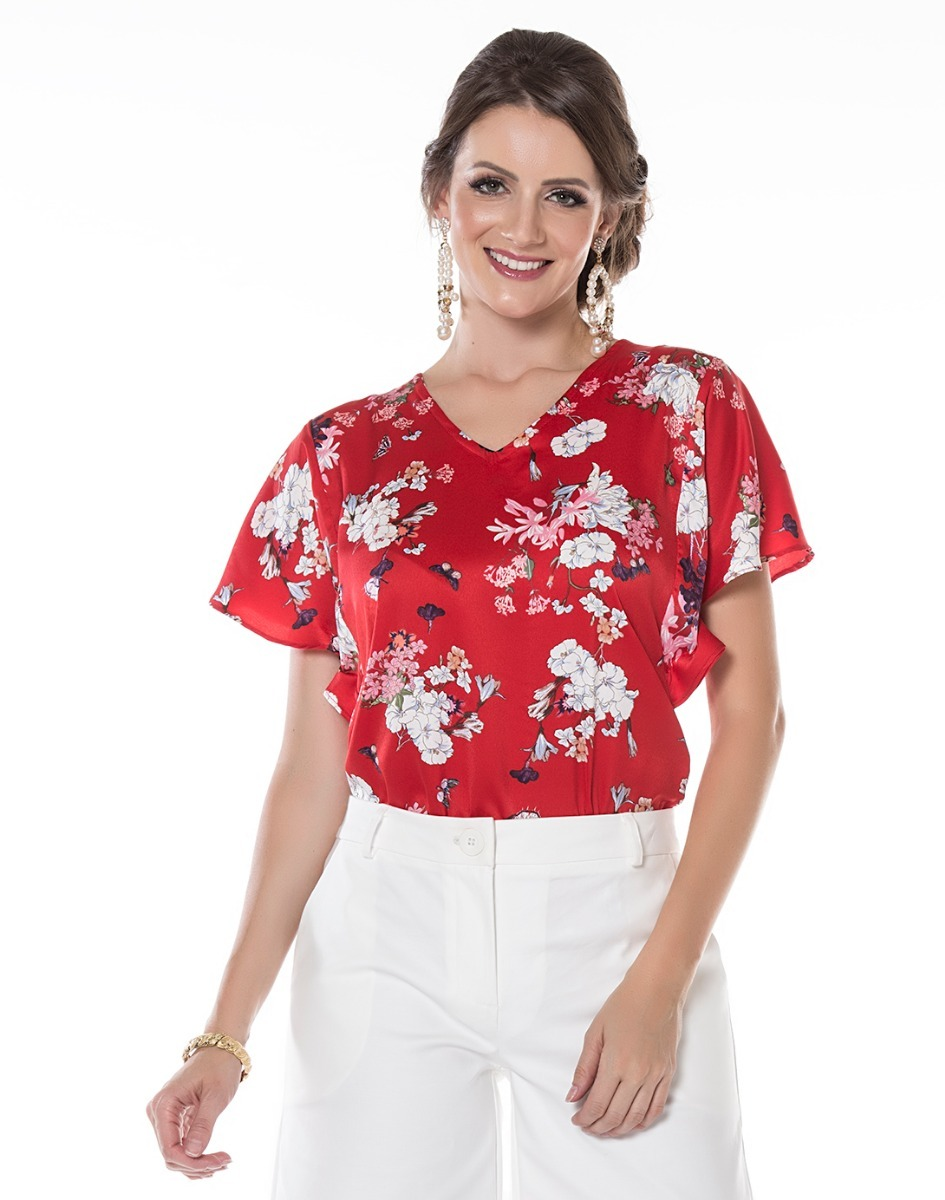 d05c6ccff kit blusa feminina cetim floral estampa atacado 3 pçs 05719. Carregando  zoom.
